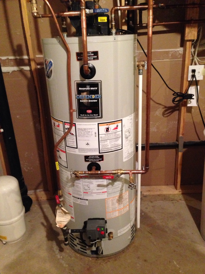 Creemore, ON - Bradford White combination hot water tank installation. Domestic hot water and in floor radiant heating
