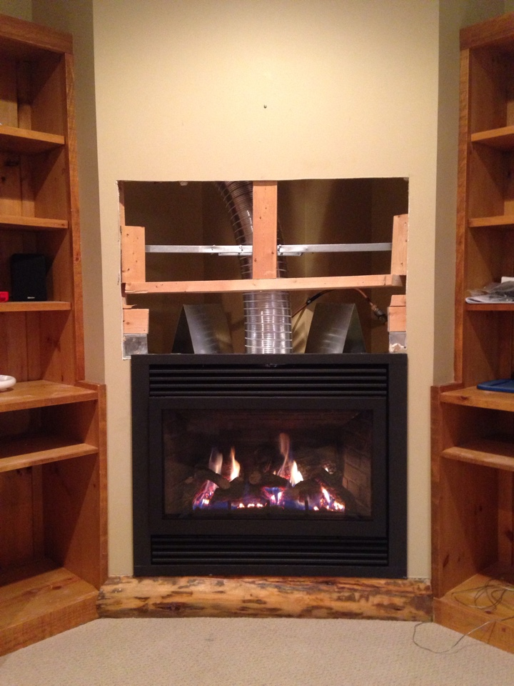 Clarksburg, ON - Archgard 72DVT30N gas fireplace installation