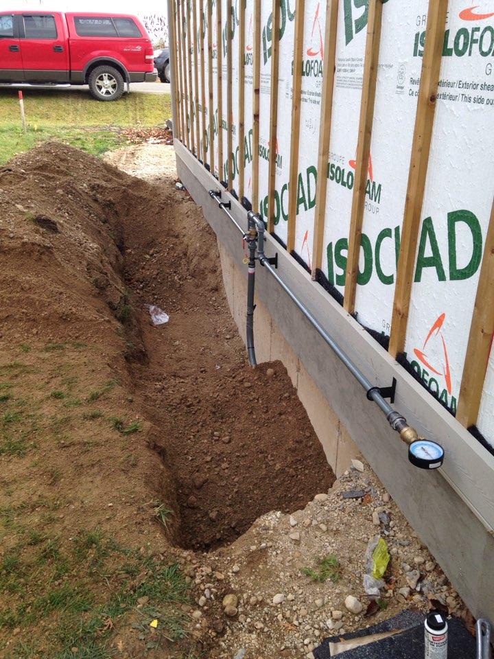 Underground gas piping
