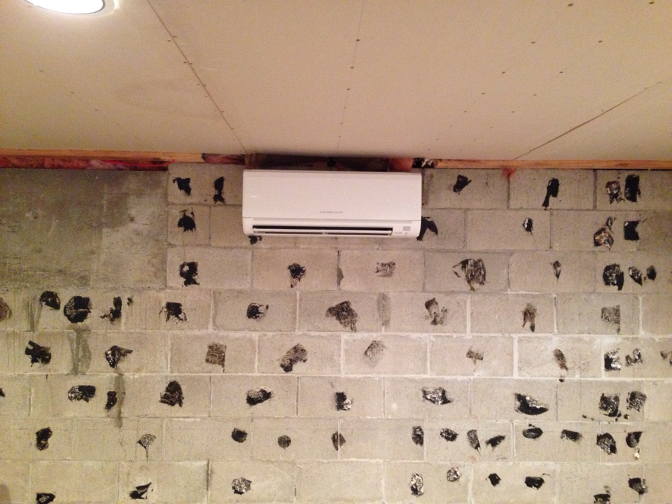 Clarksburg, ON - Basement Mitsubishi ductless heat pump installation