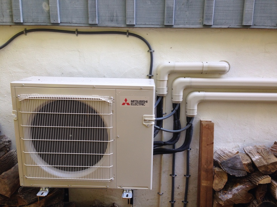 Clarksburg, ON - Mitsubishi 3 headed ductless heat pump installation