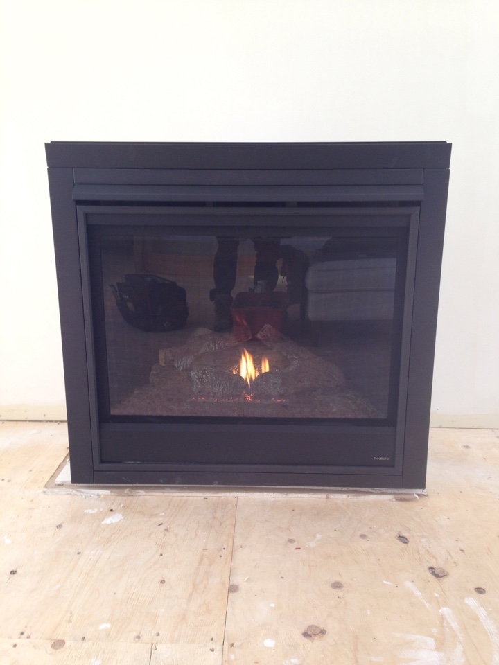 Stayner, ON - Heatilator propane fire place installation