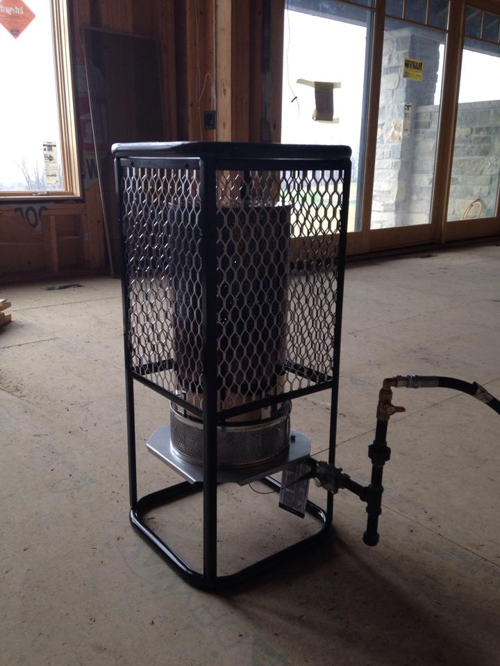 Clarksburg, ON - Construction heater hook up