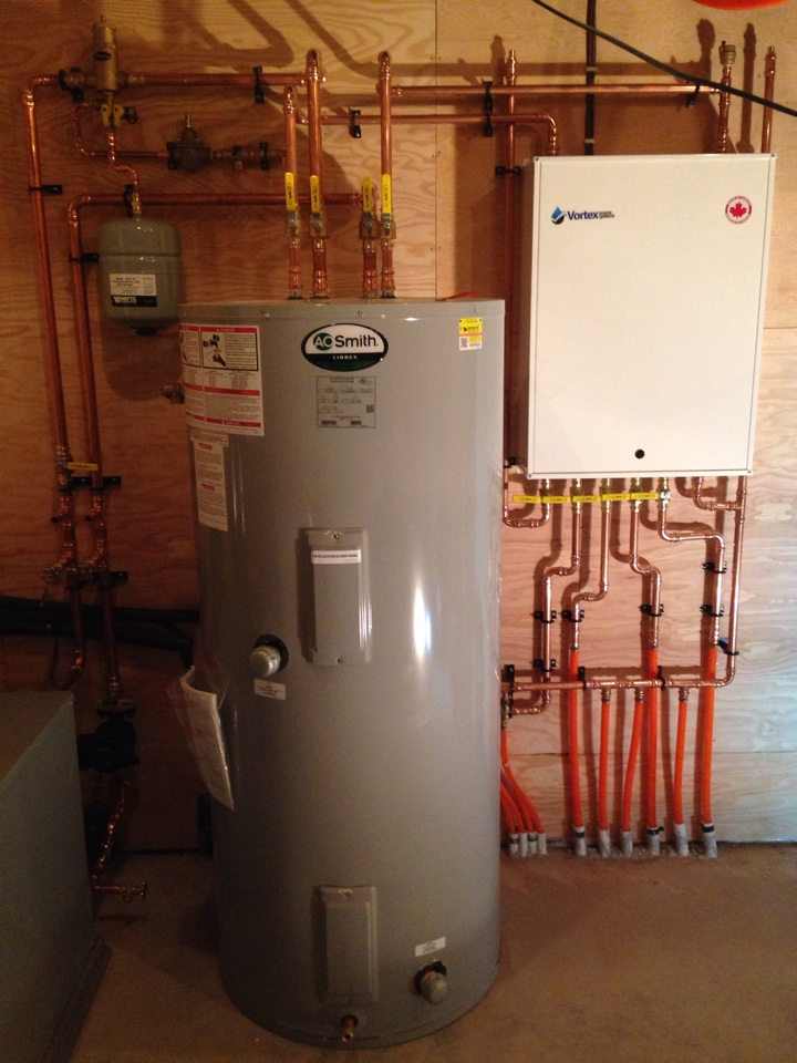 Creemore, ON - Radiant in floor heating pump module with storage tank