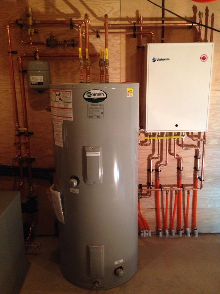Creemore, ON - Radiant in floor heating pump module with storage tank