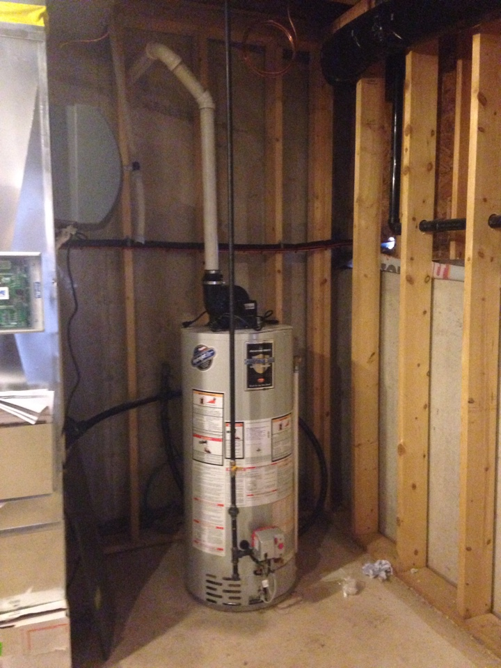 Duntroon, ON - Bradford white domestic gas hot water tank installation