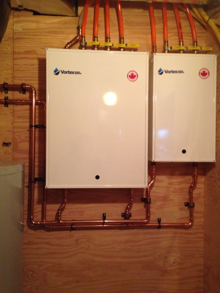 Honeywood, ON - Radiant in floor heat pump module installation