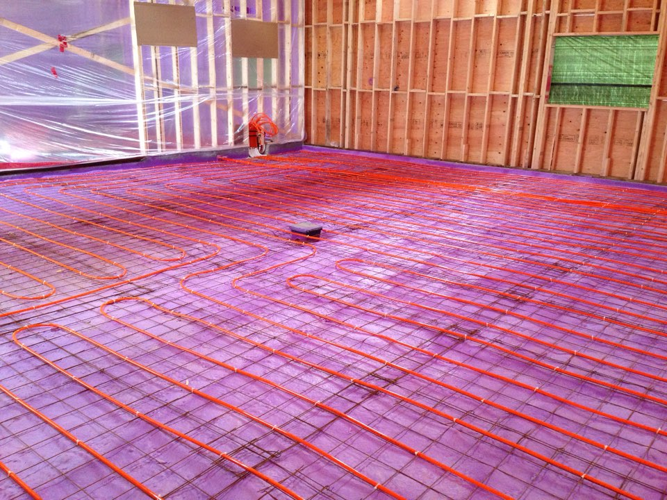Singhampton, ON - Radiant in floor heating pex pipe rough in