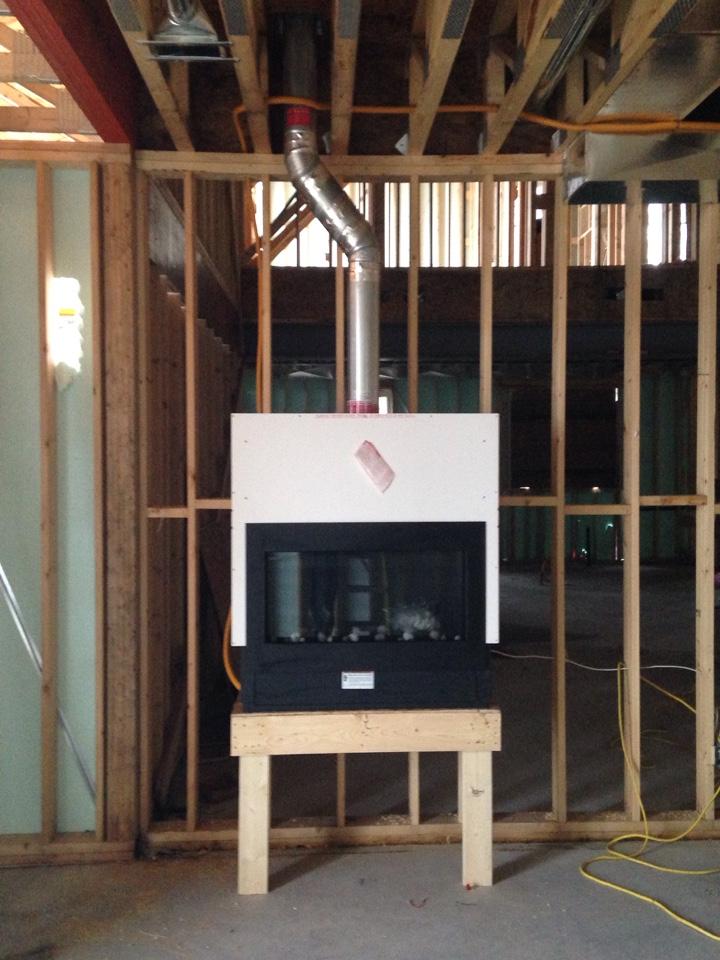 Clarksburg, ON - Heatilator Rave Fireplace Installation