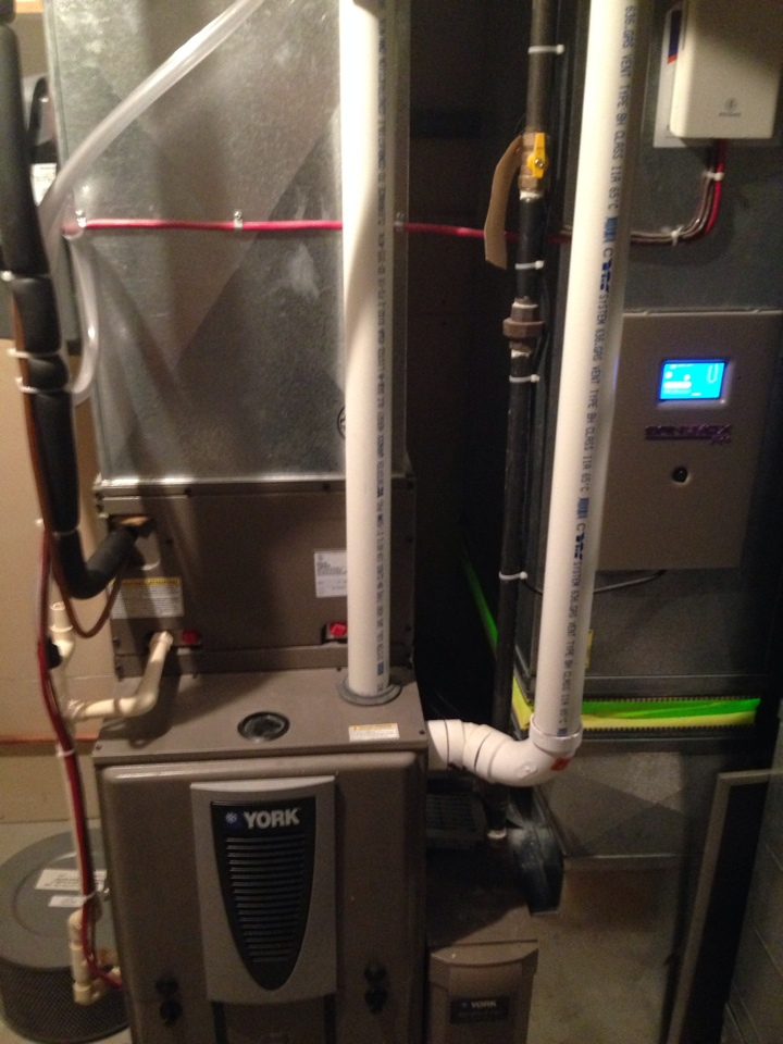 Shanty Bay, ON - Cleaned and service York Furnace, York air conditioning, York HEPA, Vanee HRV, UV air Purification system, and Honeywell True-steam humidifier.