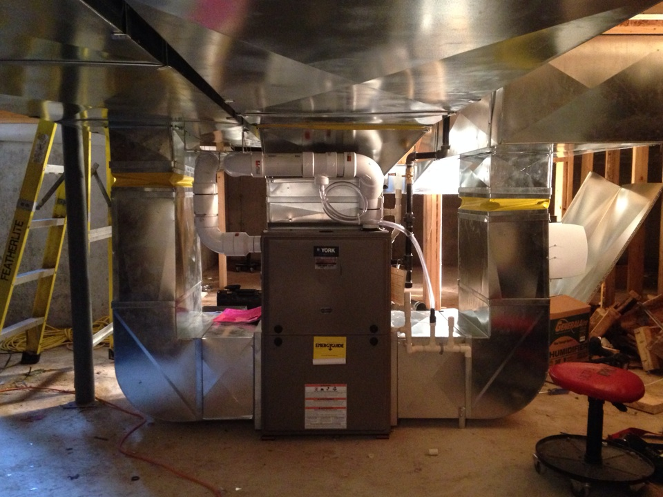 Blue Mountains, ON - York high efficiency 2 stage furnace installation