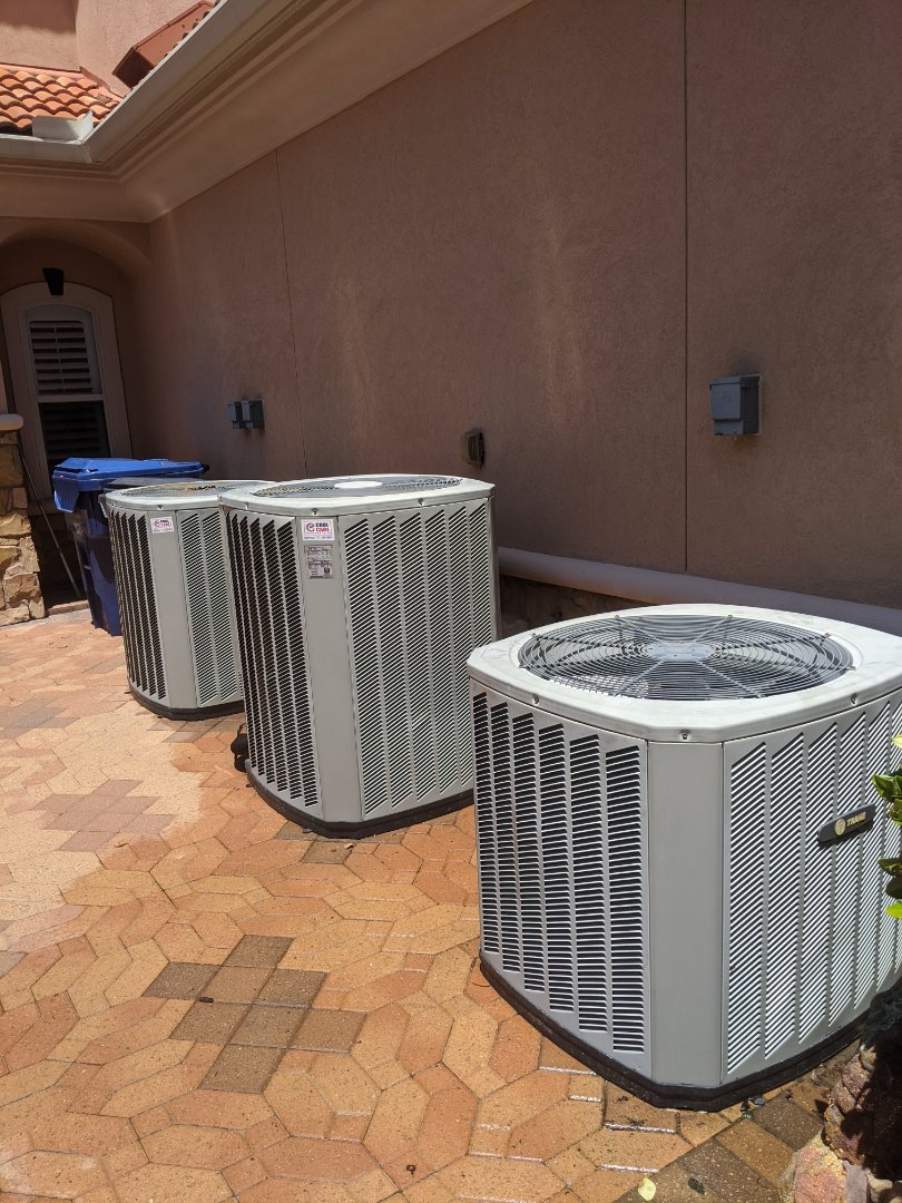 Houston, TX - Performed preventative maintenance on 4 Trane HVAC systems. Treated drains, rinsed condenser coils, and inspected components in Katy.
