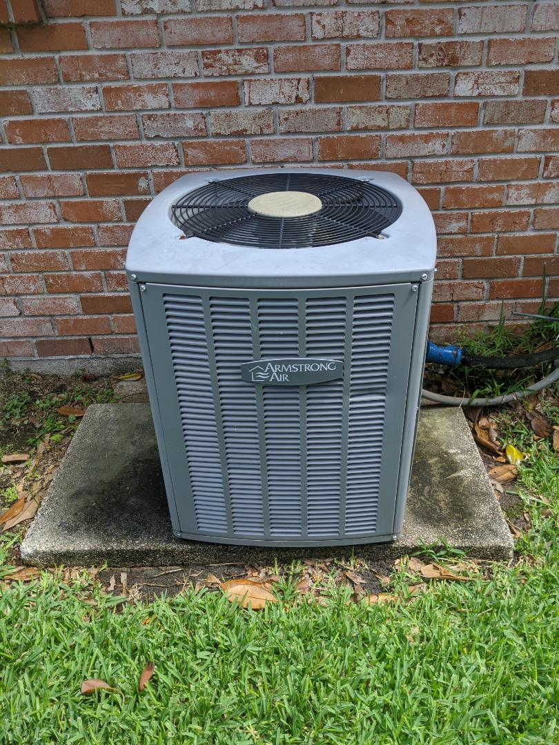 Houston, TX - Performed preventative maintenance on Armstrong HVAC system. Installed maintenance valve, and water sensor. Inspected all components, rinsed condenser coil, flushed and treated drain.
