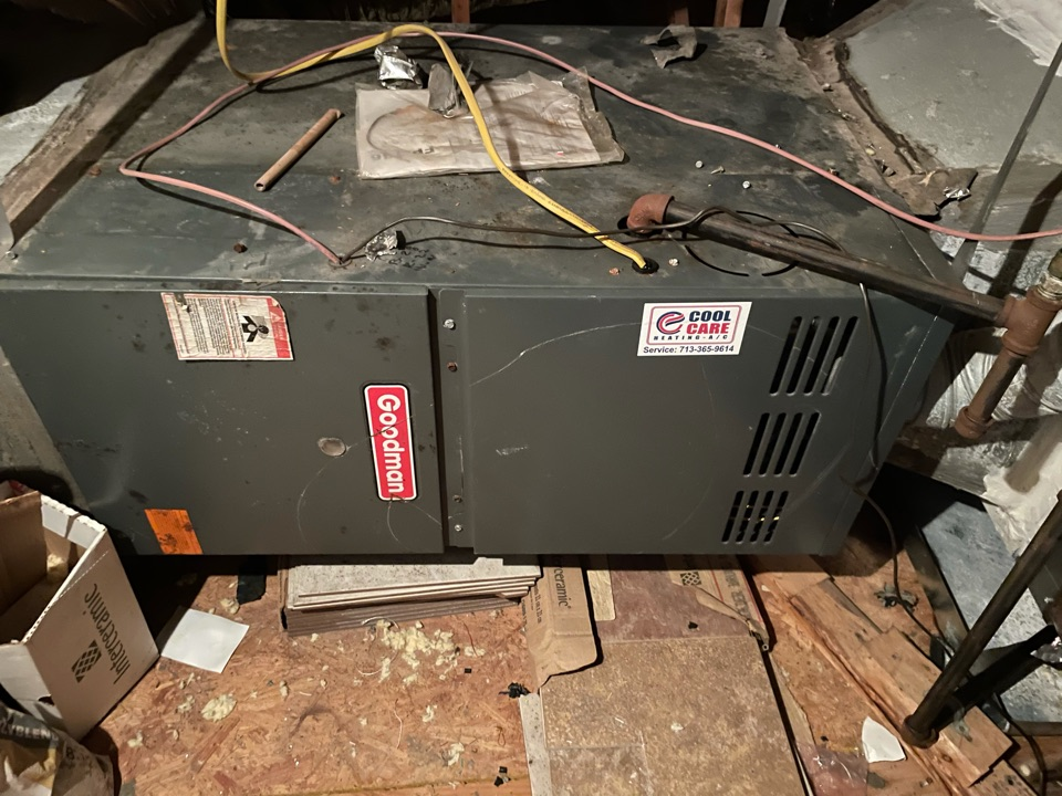Katy, TX - Completed no heat diagnostic on Goodman system in Katy