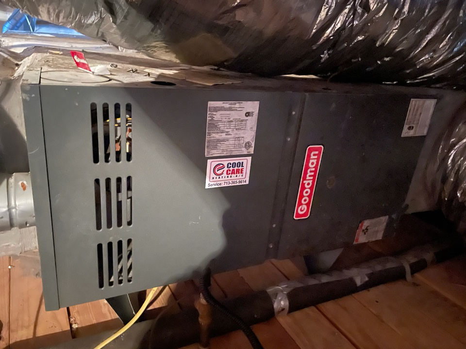 Cypress, TX - Completed diagnostic/ repair for no heat on Goodman system in Fairfield