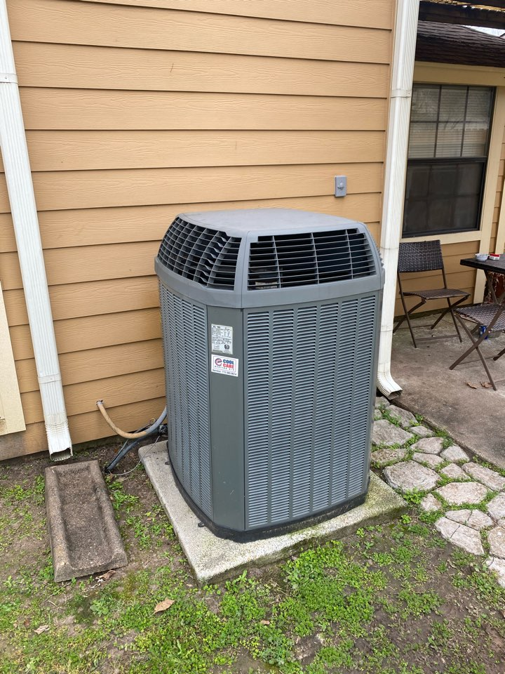 Houston, TX - Completed a cooling diagnostic check on a Trane system near Jersey Village, TX