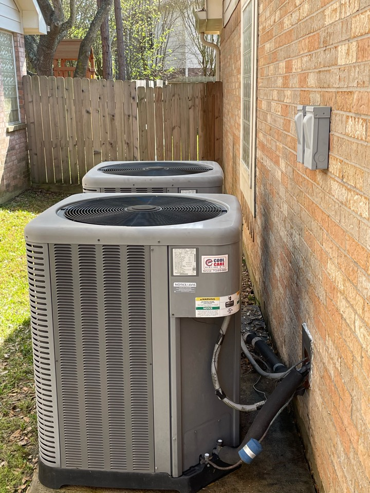 Katy, TX - Completed spring preventative maintenance on Rheem systems in Katy