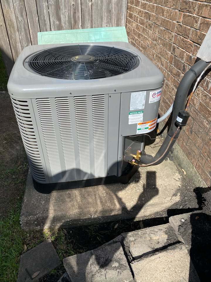 Katy, TX - Completed a cooling preventative maintenance check on a Ruud system in Katy, TX