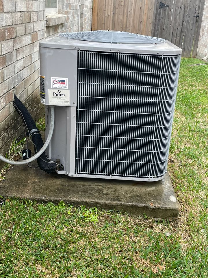 Katy, TX - Completed spring preventative maintenance on Carrier system in Katy