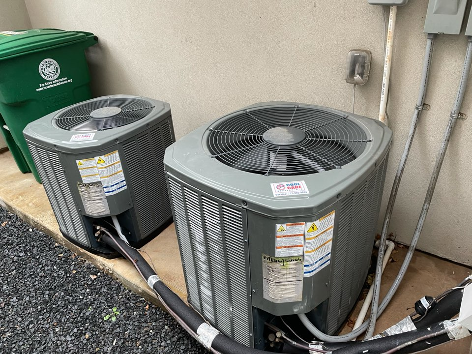 Houston, TX - Completed spring preventative maintenance on Trane system in Hilshire Village