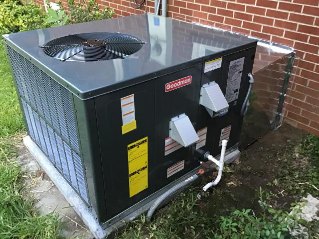 Winterville, NC - Install new 3 Ton 14 Seer Goodman Gas Pack Unit