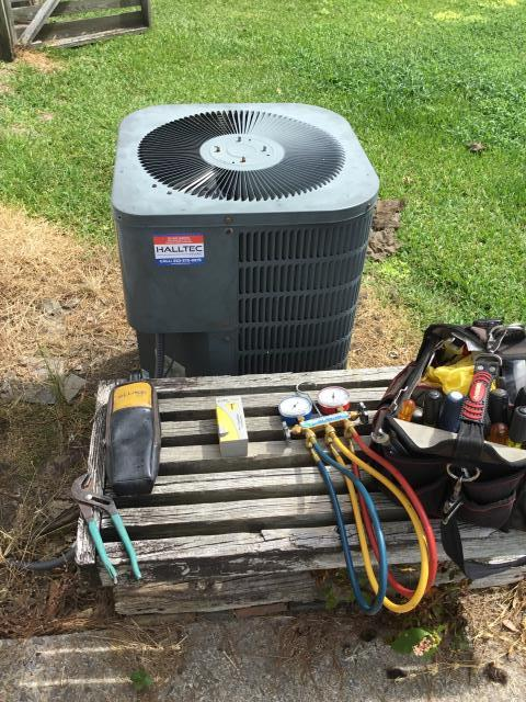 Greenville, NC - Replaced run capacitor and cleared drain lines.