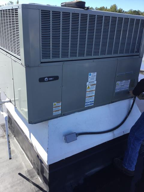 Greenville, NC - Performed Preventative Maintenance on Trane Package Heat Pump System
