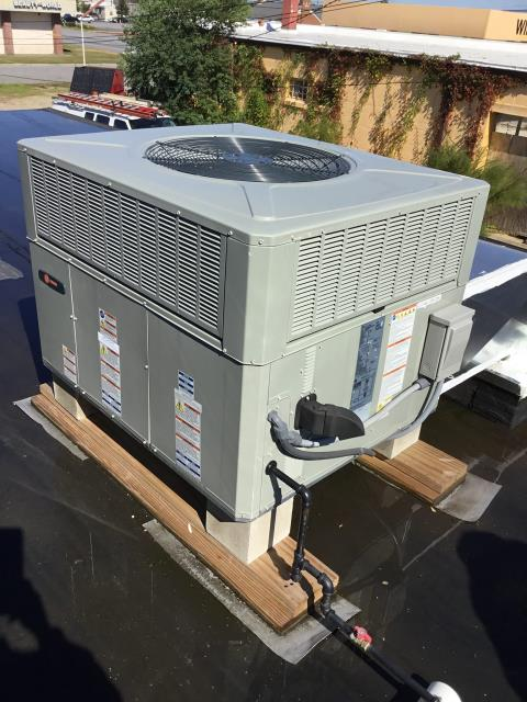 Greenville, NC - Performed preventative maintenance on 2 Trane Package Heat Pump Systems