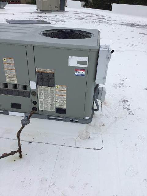 Greenville, NC - Performed Preventative Maintenance on roof top Trane package unit