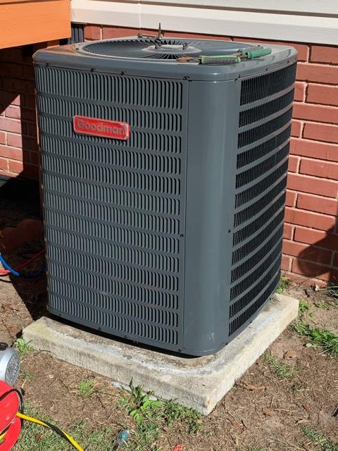 Newport, NC - Furnish and Install 4 Ton 14 SEER Goodman Heat Pump System, with a M/H electric blower and coil
