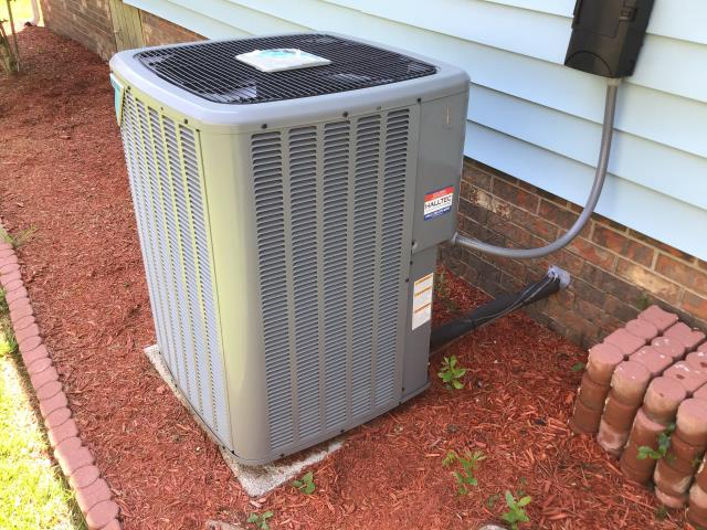 New Bern, NC - Performed preventative maintenance on 3 ton 14 seer Daikin heat pump split system