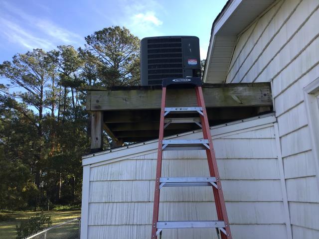 Davis, NC - Performed preventative maintenance on Goodman split system.