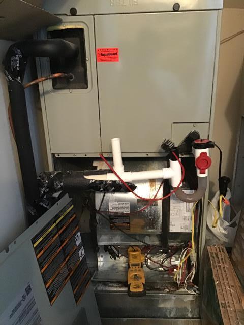 Davis, NC - Performed preventative maintenance on two Trane split systems.