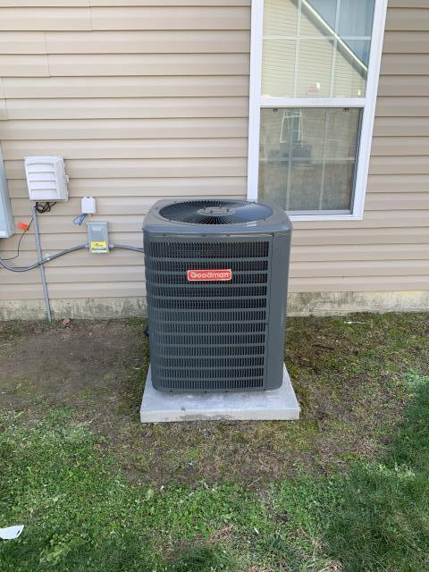 Greenville, NC - Installed 2 Ton 14 Seer Goodman Heat Pump Split System