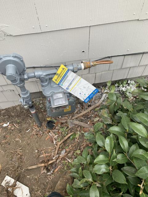 Greenville, NC - Performed a gas pressure test.