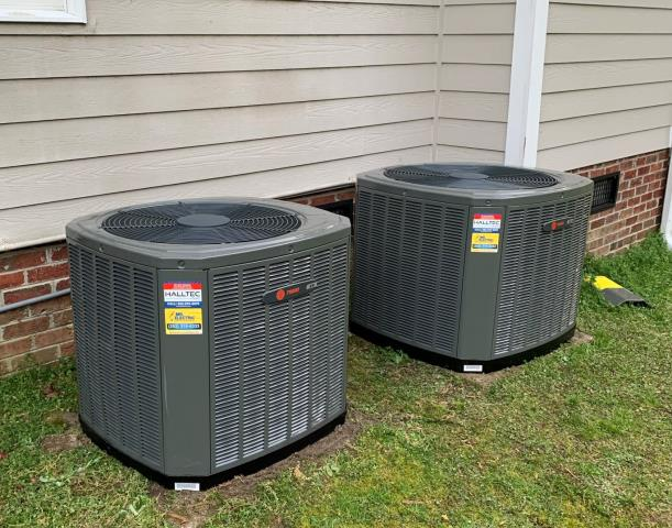 Zebulon, NC - Installed (2) Trane split system heat pumps.