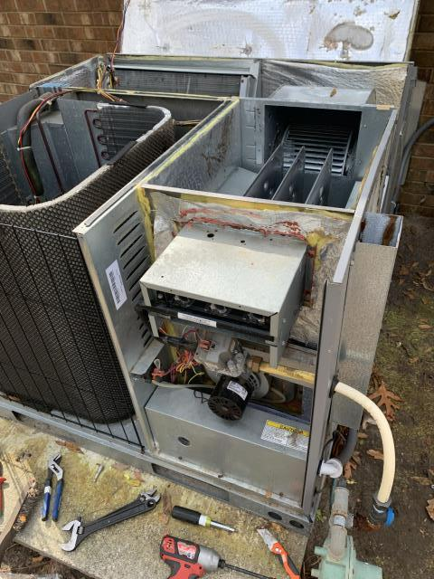 Arapahoe, NC - Furnish and installed warranty heat exchanger