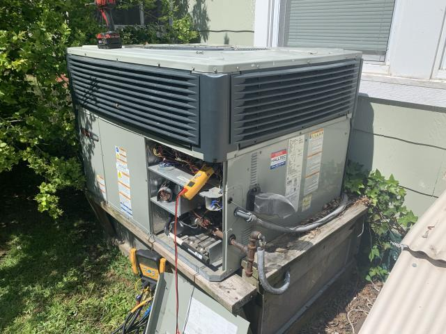 Washington, NC - Performed service on a Trane gas package unit