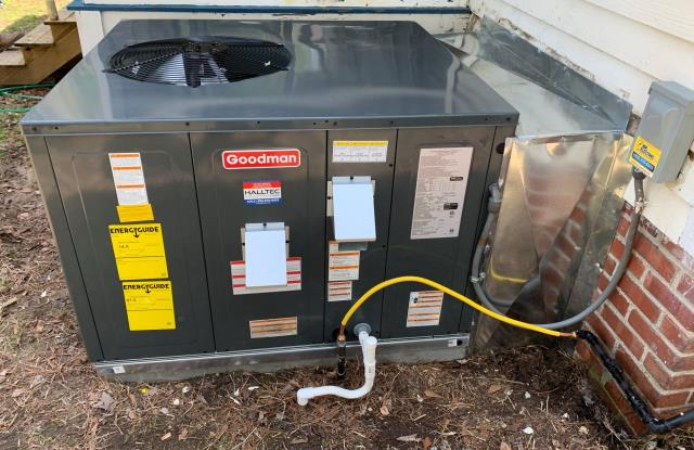 Washington, NC - Installed a Goodman gas packaged unit