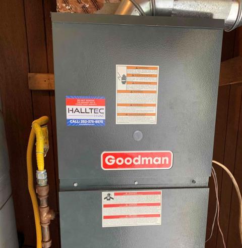 Greenville, NC - Serviced a Goodman furnace