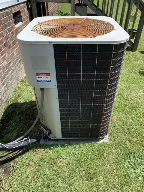 New Bern, NC - Serviced a Nordyne heat pump.
