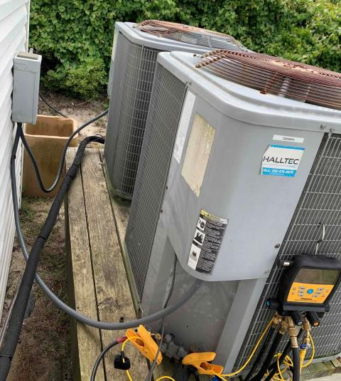 Atlantic Beach, NC - Preventive Maintenance done on 2 ICP / Luxaire heat pump units.
