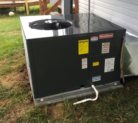 Greenville, NC - Installed a Goodman package heat pump