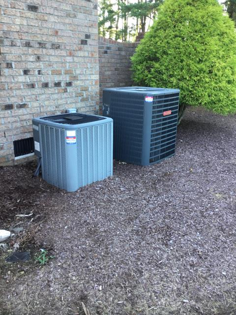 Greenville, NC - Preventive Maintenance performed on two Goodman split systems