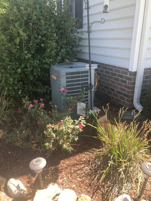 La Grange, NC - Installed new thermostat, condenser fan motor, and capacitor.