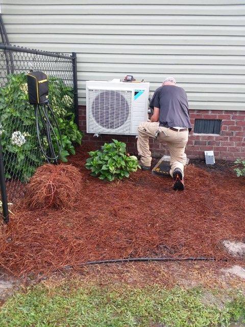 Grimesland, NC - Furnish and installed Daikin Duct Mini Split Syste for Bonus Room