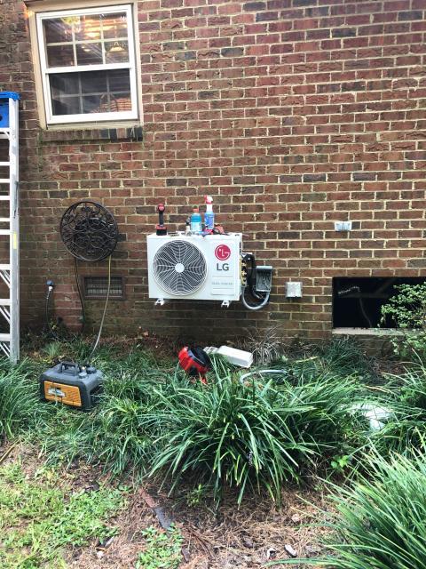 Greenville, NC - Furnish and installed LG mini split system