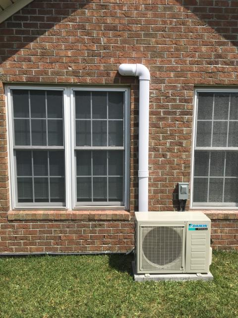 Greenville, NC - Furnish and installed Daikin Ductless System in Sun Room