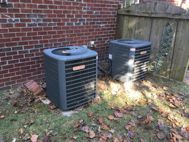 Greenville, NC - Performed preventative maintenance on 2 Goodman split systems.