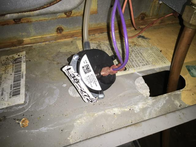 New Bern, NC - Furnish and installed new pressure switch in air handler